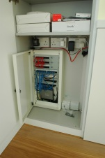 """As part of the refurbishment the flat has been completely rewired and includes the latest """"future proof"""" connections and cabling for TV, Data and Audio."""